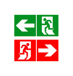 Safe sign the exit icon emergency exit green vector