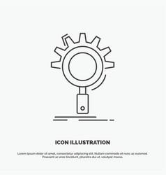 seo search optimization process setting icon line vector image