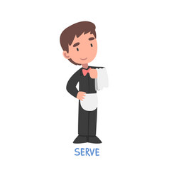 Serve word verb expressing action vector