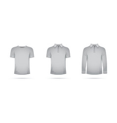 Set of grey t-shirts vector