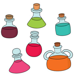 set of potion vector image