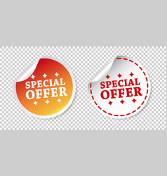 special offer stickers on isolated background vector image