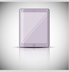 tablet pc with reflection vector image