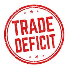 Trade deficit sign or stamp vector