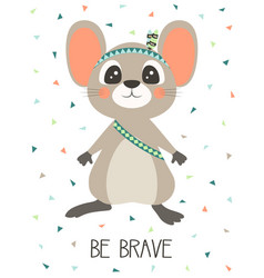tribal mouse on white vector image