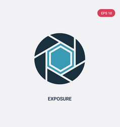 Two color exposure icon from photography concept vector