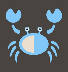 Vintage crab drawing seafood great for menu vector