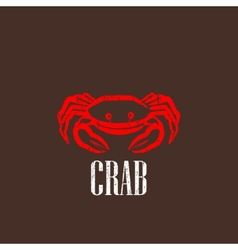 vintage with a red crab vector image