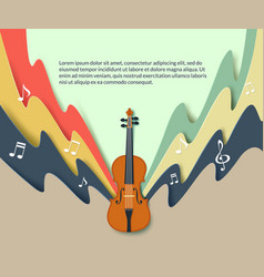 violin classical music concert poster vector image