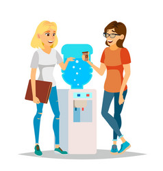 Water cooler gossip modern office water vector