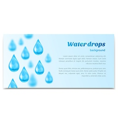 Water drops background Banner label mineral water vector