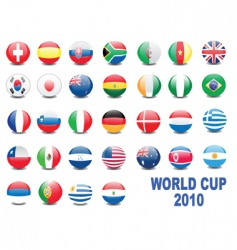 world cup balls vector image