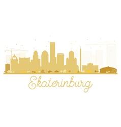 Yekaterinburg City skyline golden silhouette vector