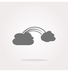 Abstract cloud web background isolated on vector image