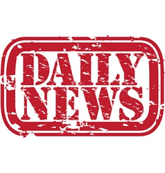 Daily news stamp vector image