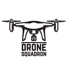 drone isolated on white background vector image