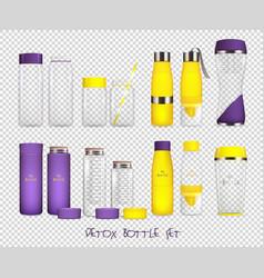 water flask transparent set vector image vector image