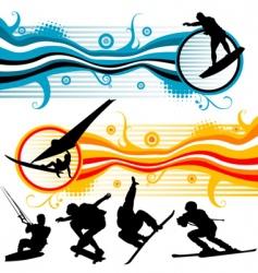 sport graphics vector image vector image