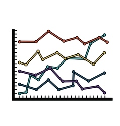 statistical growth isolated icon design vector image