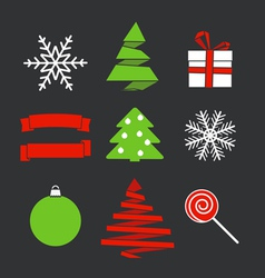 Chistmas objects vector image