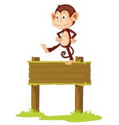 Monkey sign vector image vector image