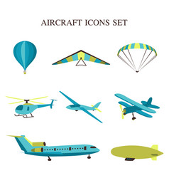 Set of airplanes vector