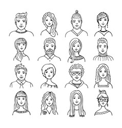 set of isolated people images vector image
