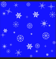 snowflake seamless pattern isolated christmas vector image vector image
