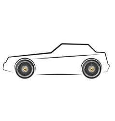 Stylized image of the car vector image
