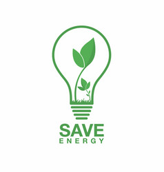 ecology logo energy saving lamp symbol icon eco vector image vector image