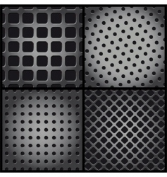 metallic backgrounds vector image vector image