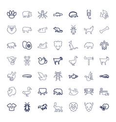 49 animal icons vector