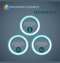 abstract business infographic template vector image
