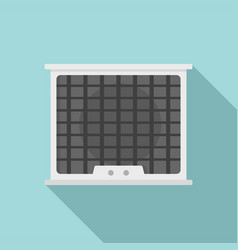 air conditioner compressor icon flat style vector image