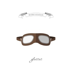 Aircraft glasses in a flat style vector image
