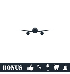 Aircraft icon flat vector