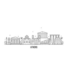 Athens skyline greece city building vector
