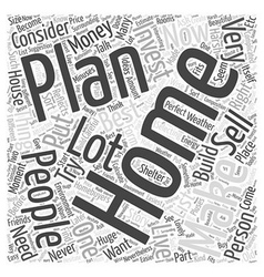 Best Selling Home Plan Word Cloud Concept vector