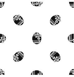 big easter egg pattern seamless black vector image