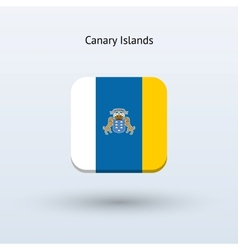 Canary Islands flag icon vector