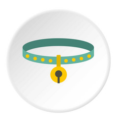 cat collar icon circle vector image