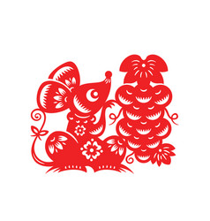 chinese lunar year mouse vector image