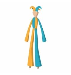 Clown on stilts cartoon vector image