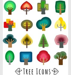 colorful trees vector image