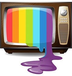 Colour dripping from television vector