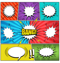 comic book elements collection vector image