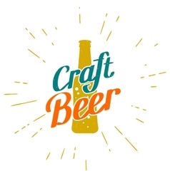 Craft beer golden label vector image
