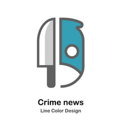 Crime news flat icon vector