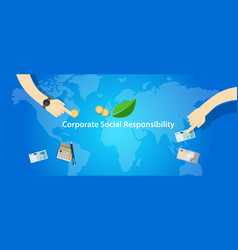 csr corporate social responsibility company vector image