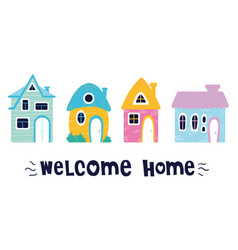 cute cartoon house vector image